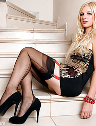 Amazing Astrid  & Astrid's Angels | Unorthodox Stocking Pics | Horny MILF With Big Pair In Stockings And Uppity Heels