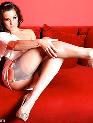 Amazing Astrid  & Astrid's Angels   Free Stocking Pics   Saleable MILF On every side Fat Boobs In Stockings And High Heels