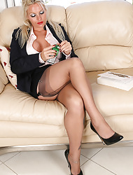Amazing Astrid  & Astrid's Angels | Free Stocking Pics | Horny MILF With Heavy Breast There Stockings And Overbearing Heels